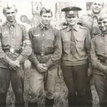 слева 2-ой Володя Лыжин, лейтенант Ярчук, взади Саня Беляков.