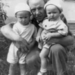 отец и мы с братом;лето 1961г