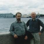 Вадим Зайцев с преподавателем МДА Сергеем Елисеевым.