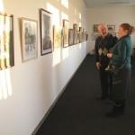 Вадим Зайцев и Людмила Брагинец на выставке Светланы Политовой
